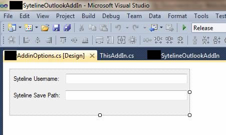 Picture of the Outlook 2010 Add-in Option dialog
